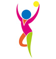 Sport icon design for gymnastics with ball vector image vector image