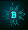 technology style bitcoin background vector image
