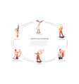 theatre stage performance - acrobatic circus vector image