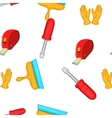 Tools pattern cartoon style vector image vector image