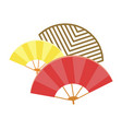 traditional japanese fans isolated vector image vector image