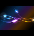 vibrant glowing neon shiny waves background vector image