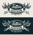 vintage tattoo festival monochrome label vector image vector image