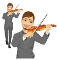 Young male violinist playing an acoustic violin vector image