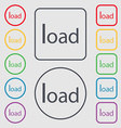 Download now icon Load symbol Symbols on the Round vector image