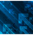 Business graph and arrows on blue abstract vector image
