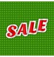 Christmas sale message vector image