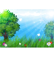 Trees in the meadow vector image