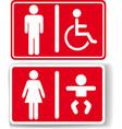 Restroom men women baby handicapped vector image