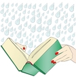 A moving book vector image vector image