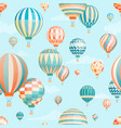 air balloons in sky seamless pattern