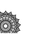 asian culture and henna tattoo inspired mandala 1 vector image vector image