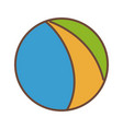 beach ball colors funny plastic icon vector image vector image
