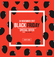 black friday poster square white frame with black vector image vector image