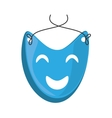 blue mask happy theater graphic vector image