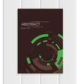 brochure in abstract style with green vector image