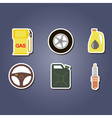 colorful set with cars icons vector image
