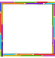 creative square border frame made of colored vector image