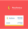 crescent logo design with business card template vector image