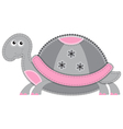 cute cartoon isolated fabric animal turtle vector image