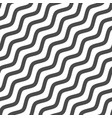 diagonal black waves vector image vector image