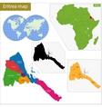 Eritrea map vector image vector image