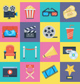 film icons set vector image vector image