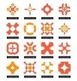 Flat geometric business symbols Icon set vector image vector image