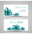FlowerBusinessCard vector image vector image