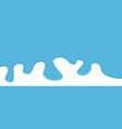 flowing down paint blue color drops flat design vector image