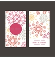folk floral circles abstract vertical round vector image vector image