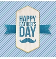 Happy Fathers Day festive Poster with Ribbon vector image