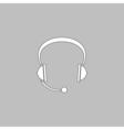 Headphone computer symbol vector image vector image