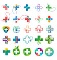 healthcare logo collection design concept vector image vector image