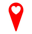 heart love location sign icon vector image vector image