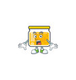 jam with mascot surprised on white background vector image vector image