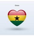 Love Ghana symbol Heart flag icon vector image vector image