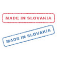 made in slovakia textile stamps vector image vector image