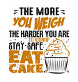 more you weight harder good for print vector image