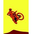 Motocross Rider vector image vector image