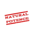 Natural Potence Watermark Stamp vector image vector image