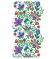 paisley seamless border pattern ethnic vector image vector image