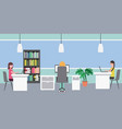 people workspace interior vector image
