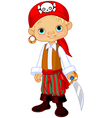 Pirate Kid vector image vector image