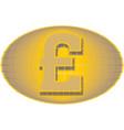 pound sign money symbol vector image