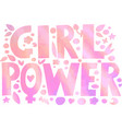 psychedelic hippie girl power lettering vector image vector image