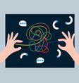 psychology analysis problem solving vector image