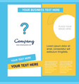 question mark company brochure template busienss vector image vector image