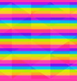 rainbow seamless stripes with triangle effect vector image vector image