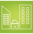 Real estate line icon vector image vector image
